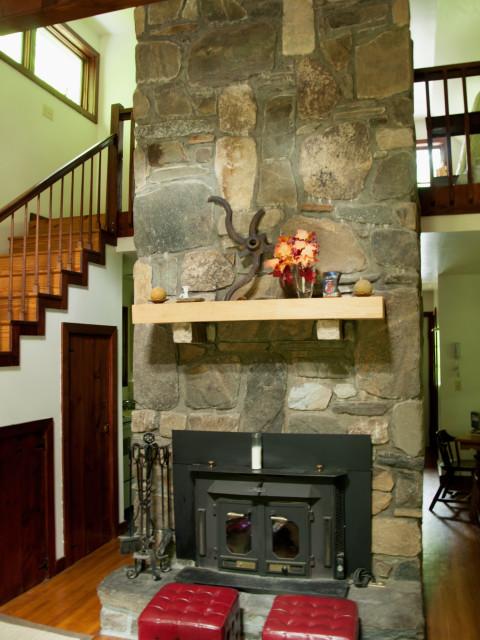 Native stone chimney